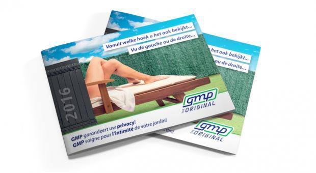 Brochure avec haies artificielles et lamelles de jardin